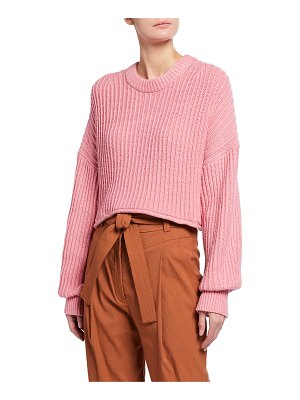A.L.C. Lianne Drop-Shoulder Rib-Knit Sweater