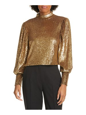 A.L.C. margaret sequin mock neck top