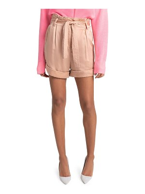 A.L.C. Merrick Belted High-Waist Shorts