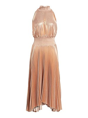 A.L.C. renzo metallic pleated midi dress