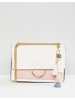 ALDO Contrast Flap Cross Body Bag With Pom Tassel