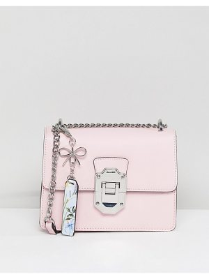 ALDO Cross Body Bag With Silver Hardwear In Pink