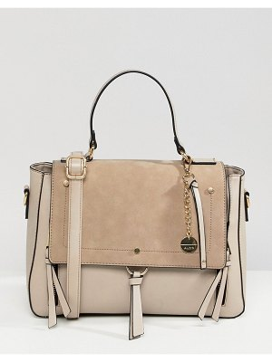 ALDO gochnauer cream handheld tote bag with tassel and zip detail