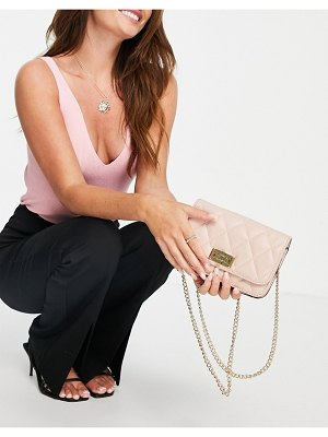 ALDO grydith quilted cross body bag in light pink