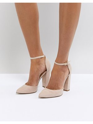 ALDO Nicholes Beige Ankle Strap High Heeled Pointed Shoe