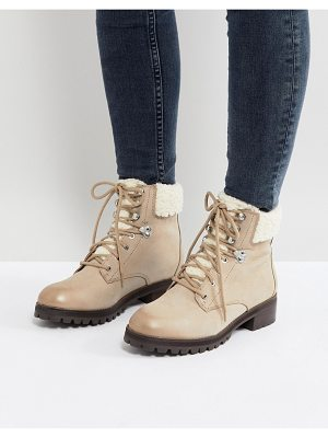 ALDO Uleladda Leather Lace Up Hiker Boot in Taupe