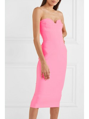 Alex Perry corley strapless neon crepe dress