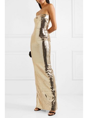 Alex Perry howard strapless sequined crepe gown