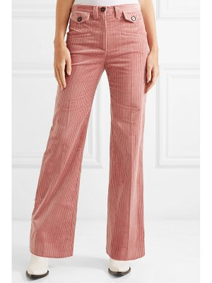 ALEXACHUNG cotton-blend corduroy bootcut pants
