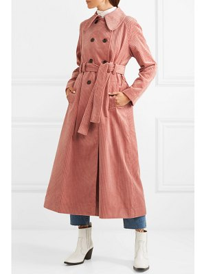 ALEXACHUNG cotton-blend corduroy trench coat