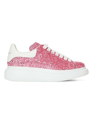 Alexander McQueen 45mm glittered leather sneakers