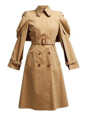 Alexander McQueen shell sleeve cotton gabardine trench coat