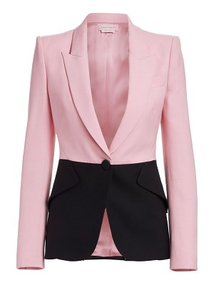 Alexander McQueen bi-color one-button jacket