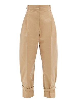 Alexander McQueen buckled tailored cotton trousers