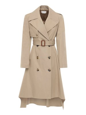 Alexander McQueen Cotton gabardine belted trench coat