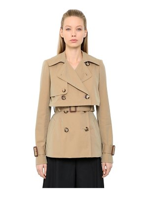 Alexander McQueen Cotton gabardine trench jacket