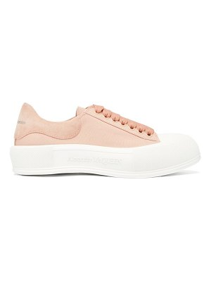 Alexander McQueen deck canvas and suede trainers