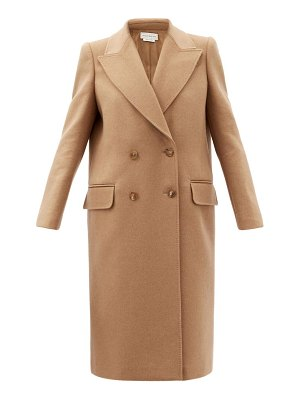 Alexander McQueen double-breasted camel-hair coat
