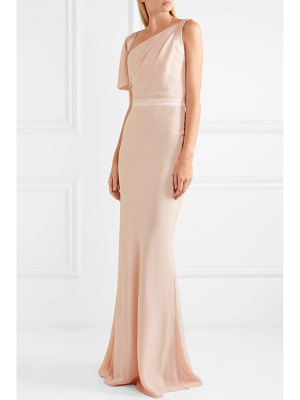 Alexander McQueen draped satin-trimmed crepe gown