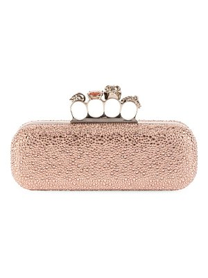 Alexander McQueen embellished knuckle clutch