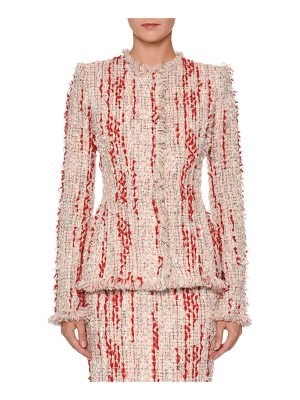 ALEXANDER MCQUEEN Fitted Chiffon Tweed Jacket