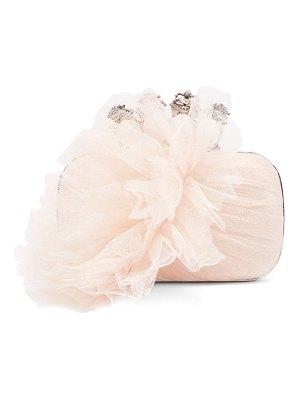 Alexander McQueen four ring tulle and satin box clutch