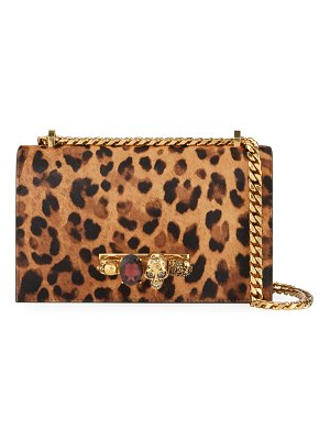 Alexander McQueen Jeweled Cheetah Satchel Shoulder Bag