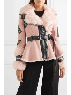 Alexander McQueen leather-trimmed shearling biker jacket