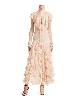 Alexander McQueen long sleeve ruffle dress