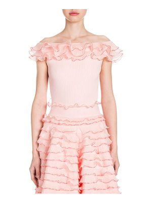 ALEXANDER MCQUEEN Off-Shoulder Ruffletop