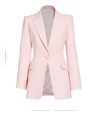 Alexander McQueen one-button blazer