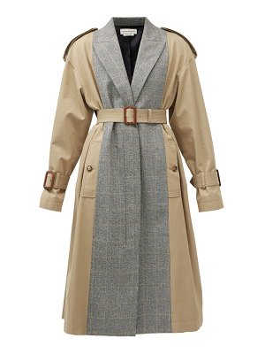 Alexander McQueen checked wool-blend and cotton trench coat