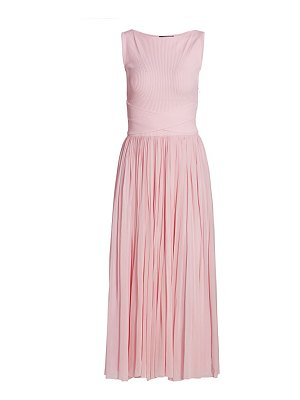 Alexander McQueen pleated sleeveless jersey dress