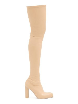 Alexander McQueen point-toe leather over-the-knee boots