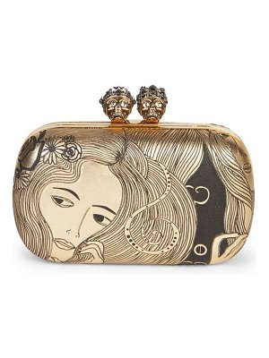 Alexander McQueen queen & king leather clutch