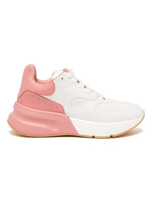 Alexander McQueen Alexander Mcqueen - Runner Raised Sole Low Top Leather Trainers