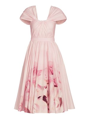 Alexander McQueen rose knotted fit-&-flare dress