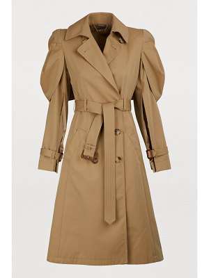 Alexander McQueen Shell cape trench