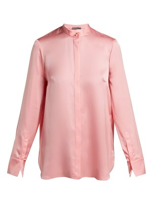 Alexander McQueen silk satin long sleeve blouse