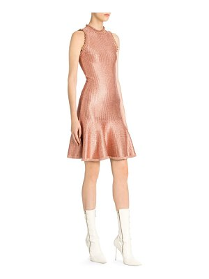 Alexander McQueen sleeveless metallic mini dress