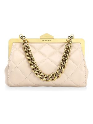 Alexander McQueen small frame quilted leather bag
