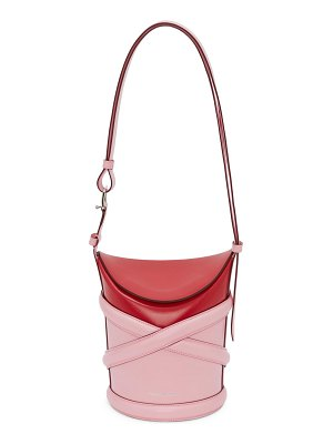 Alexander McQueen small the curve colorblock leather bucket bag