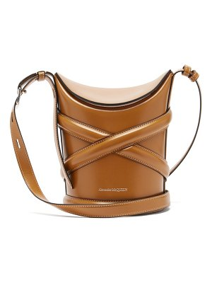 Alexander McQueen the curve small harness-strap leather bucket bag