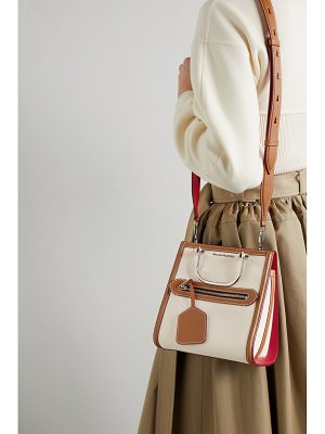 Alexander McQueen the short story leather-trimmed canvas tote