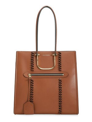 Alexander McQueen the story whipstitch leather tote