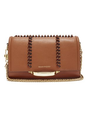 Alexander McQueen the story whipstitched leather shoulder bag