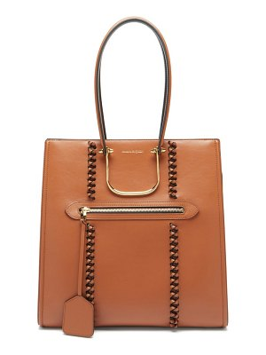 Alexander McQueen the tall story whipstitched leather tote bag