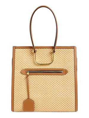 Alexander McQueen The tall story woven tote