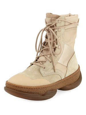 Alexander Wang A1 Mixed Tall Combat Boots