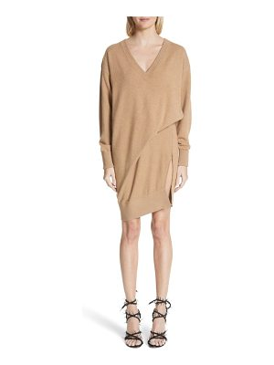 ALEXANDER WANG Asymmetrical Wool & Cashmere Blend Sweater Dress
